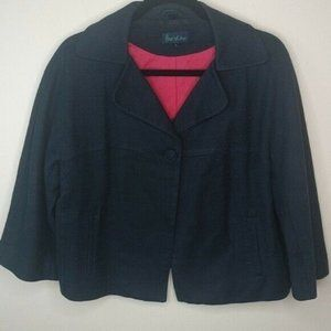 Boden Blazer Textured Plus Size Jacket Work